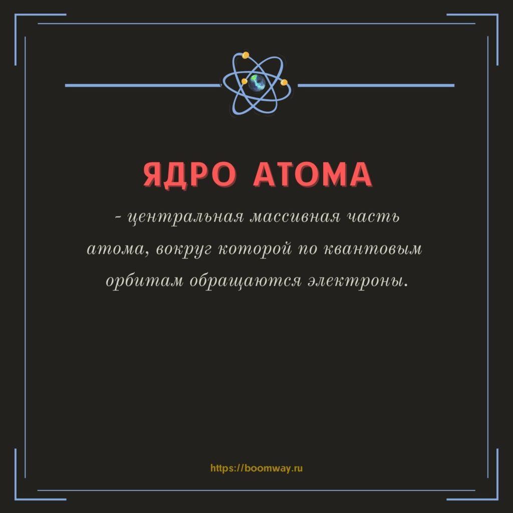 ядро атома БАК