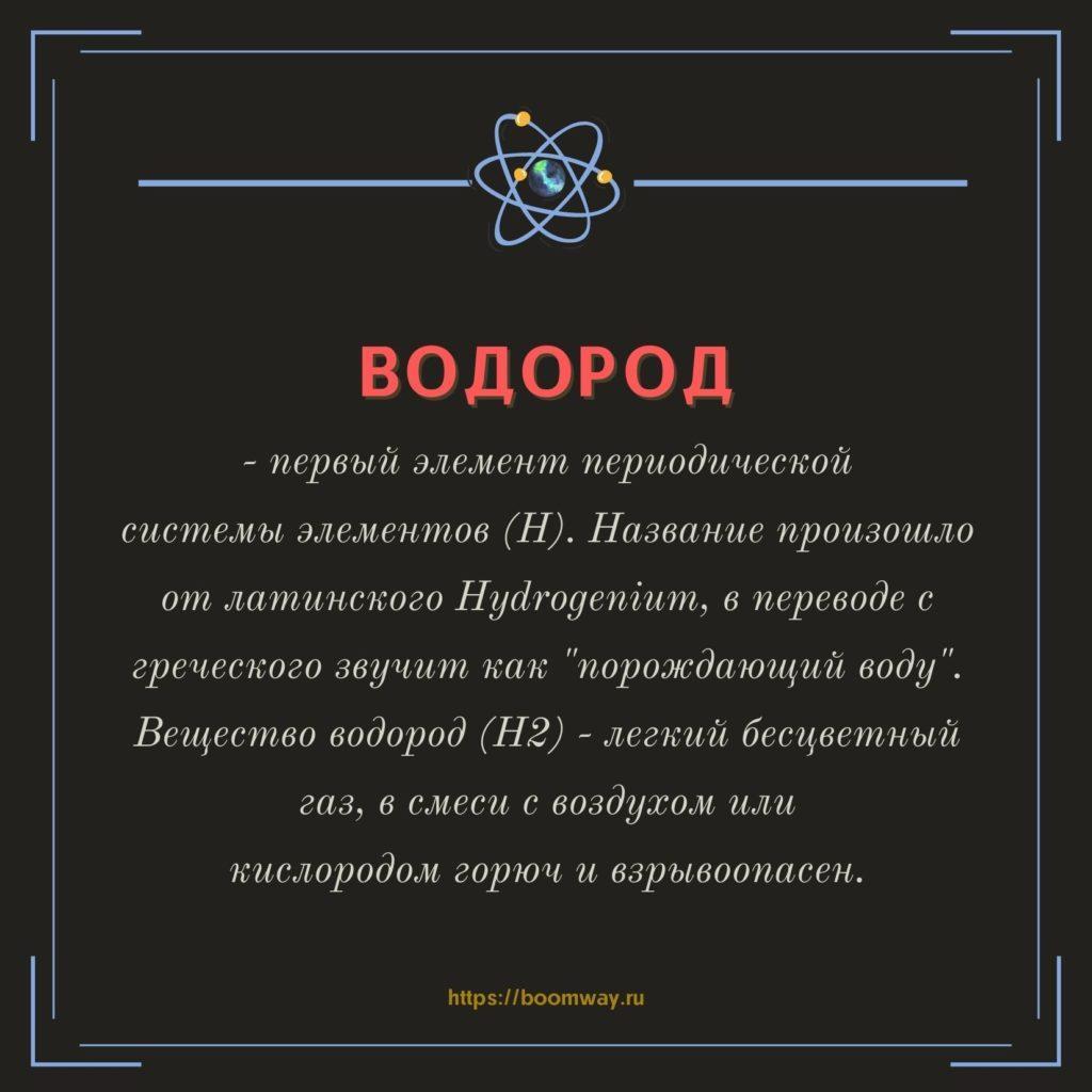 водород БАК