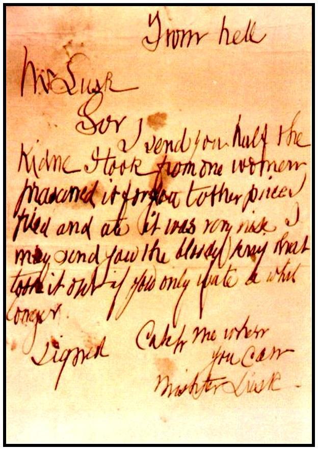 Письма и открытки Джека-Потрошителя