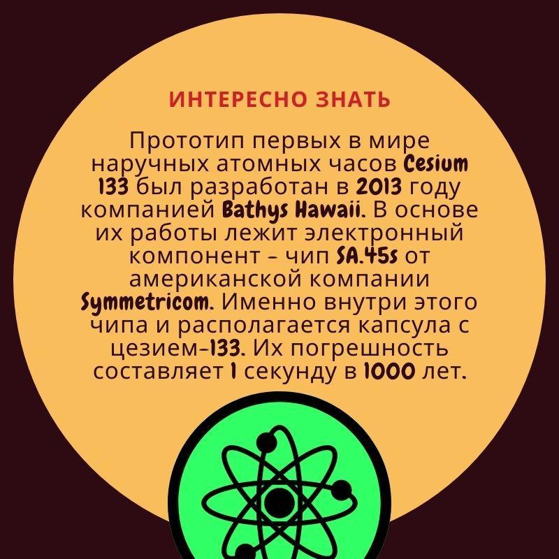 Первые в мире наручные атомные часы Cesium-133.